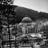 Restored 7th Century Church and Monastery of Sankt Blasien in the Black Forest Photographic Print by Dmitri Kessel