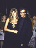 Model Claudia Schiffer and Boyfriend, Magician David Copperfield Premium Photographic Print