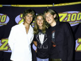 Members of Family Musical Group Hanson Isacc, Zach and Taylor Hanson Premium Photographic Print by Dave Allocca