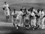 New York Yankees Celebrating During a World Series Game Premium Photographic Print