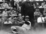 Baseball Player Orlando Cepeda Sliding into Home Premium Photographic Print