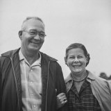 Retired Printer Howard Cowgill W. Wife from Ohio Photographic Print