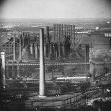 Steel Plant During Strike Photographic Print