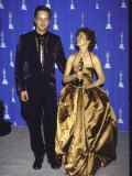 Actors Tim Robbins and Susan Sarandon in Press Room at Academy Awards Premium Photographic Print by Mirek Towski