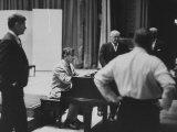 Composer Leonard Bernstein Preparing for a Concert Premium Photographic Print