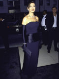 "Actress Catherine Zeta-Jones at the Premiere of the Film ""Mask of Zorro"" Premium Photographic Print by Mirek Towski"