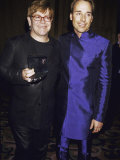 Singer Songwriter Elton John and Partner David Furnish at Glaad Media Awards Premium Photographic Print by Dave Allocca