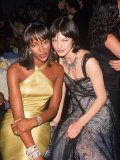 Model Naomi Campbell and Actress Milla Jovovich at Cfda Awards Premium Photographic Print by Marion Curtis
