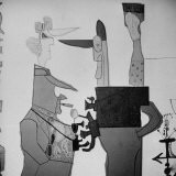 Painting by Saul Steinberg Photographic Print by Michael Rougier