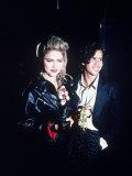 Singers Madonna and Jellybean Benitez Premium Photographic Print