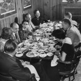The Rectors Family Having a Few Friends in for a Buffet Supper and Comfortable Evening at Home Photographic Print by Loomis Dean