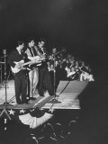 Singer Ricky Nelson and Band Duing a Performance Premium Photographic Print by Ralph Crane