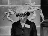 Woman Wearing a Crab Hat at the League of Women Voter's Convention Photographic Print by Robert W. Kelley