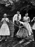 Archery Providing Entertainment at a Teenage Party Photographic Print by Yale Joel