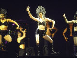 Singer Madonna Performing with Dancers Premium Photographic Print