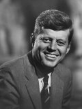 Senator John F. Kennedy Close-Up During Campaign Premium Photographic Print