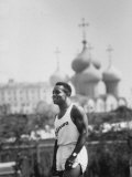 US Track Athlete Ira J. Murchison at a Us-Soviet Track Meet Premium Photographic Print