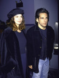 Actress Jeanne Tripplehorn and Boyfriend, Actor Ben Stiller Premium Photographic Print