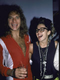 Singers David Lee Roth and Madonna Premium Photographic Print by Ann Clifford