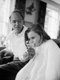 Author Roald Dahl and Daughter at Home Premium Photographic Print