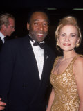 Soccer Star Pele and His Wife Attending the 20th Century Sports Awards Premium Photographic Print