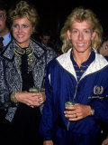 Tennis Player Martina Navratilova and Her Girlfriend Judy Nelson Premium Photographic Print