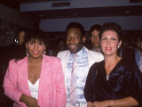 Soccer Star Pele Flanked by Daughter Kelly Christina and Date Regina Dante Premium Photographic Print