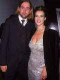 Figure Skater Katarina Witt with Boyfriend at 45th Anniversary Party for Playboy Premium Photographic Print by Marion Curtis