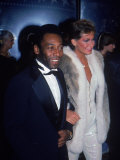Soccer Star Pele and Girlfriend Xuxa Premium Photographic Print
