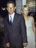 "Married Actors Dennis Quaid and Meg Ryan at Film Premiere of His ""The Parent Trap"" Metal Print by Mirek Towski"