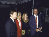 Agent Michael Ovitz and Wife Judy with Jane Eisner and Husband, Disney Ceo Michael D. Eisner Premium Photographic Print