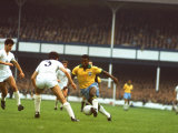 Soccer Star Pele in Action During World Cup Competition Premium fototryk