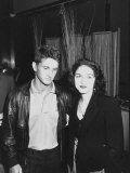 Singer Madonna and Husband Sean Penn Posing at Tyson-Spinks Fight Premium fototryk