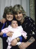 Rock Musician Ozzy Osbourne, Wife Sharon Arden and their Daughter Aimee Premium Photographic Print by David Mcgough