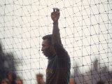 Soccer Star Pele in Action During a Practice for the World Cup Competition Premium Photographic Print
