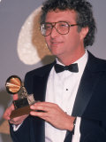 Singer Randy Newman Holding a Grammy Award Premium Photographic Print by David Mcgough