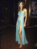 Actress Elizabeth Hurley at Premiere of Film &quot;Mickey Blue Eyes,&quot; Which She Co-Produced Premium Photographic Print by Dave Allocca