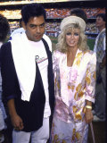 Actress Donna Mills and Boyfriend, Richard Holland Premium Photographic Print by Kevin Winter