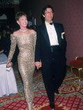 Actress Mary Tyler Moore and Husband, Dr. Robert Levine Premium Photographic Print