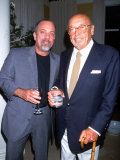 Singer Songwriter Billy Joel and Music Executive Ahmet Ertegun at Star Benefit Premium Photographic Print by Dave Allocca