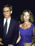 Actor Harrison Ford and Wife, Screenwriter Melissa Mathison Premium Photographic Print
