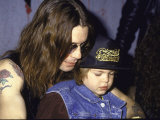 Rock Musician Ozzy Osbourne and Son, Jack Premium Photographic Print by Kevin Winter