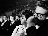 Actors Natalie Wood and Warren Beatty Attending the Academy Awards Premium Photographic Print by Allan Grant