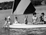 Family of Apollo 8 Astronaut William Anders on a Sailboat Metal Print by Ralph Morse