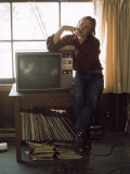 Musician Stephen Stills at Home Premium Photographic Print