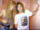 Rock Musicians Zack and Ozzy Osbourne Alu-Dibond von Kevin Winter