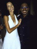 "Comedian Actor Eddie Murphy and Wife Nicole Mitchell at Film Premiere of His ""Bowfinger"" Premium Photographic Print by Dave Allocca"