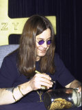 Rock Musician Ozzy Osbourne Signing New Album Cd at the Virgin Megastore Premium Photographic Print by Marion Curtis