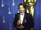 Actor Al Pacino Holding His Oscar in Press Room at Academy Awards Premium Photographic Print