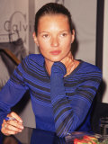 Model Kate Moss Signing Autographs Premium Photographic Print by Dave Allocca